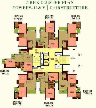 Logix Blossom Greens Cluster Plan