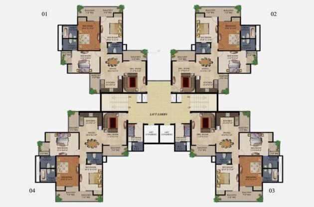 Supertech 34 Pavilion Cluster Plan