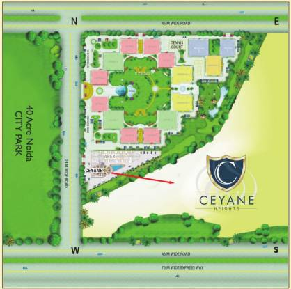 Supertech Ceyane Tower Site Plan