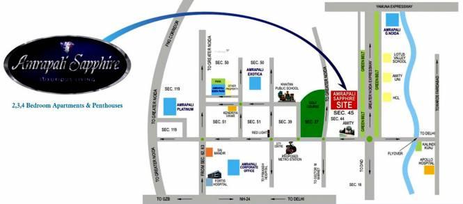 Amrapali Sapphire Location Plan