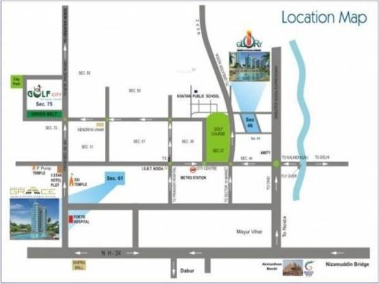 Gardenia Glory Location Plan