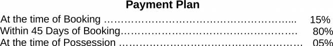 Gardenia Glory Payment Plan