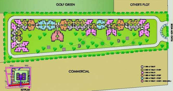 Gardenia Golf City Layout Plan