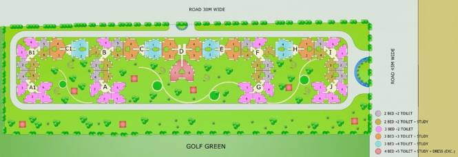Gardenia Golf City Site Plan