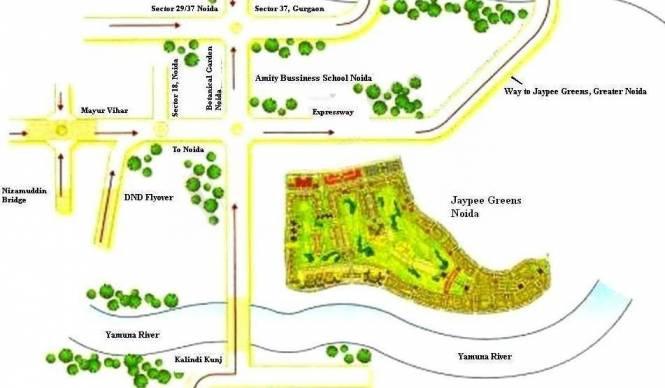 Jaypee Kosmos Location Plan