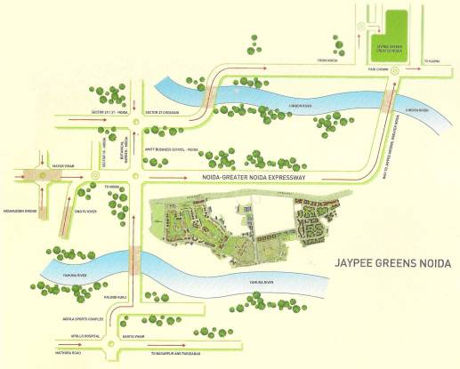 Jaypee The Imperial Court Location Plan