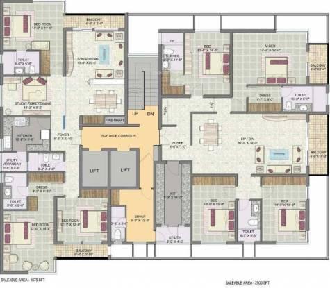 Jaypee Pavilion Heights Cluster Plan