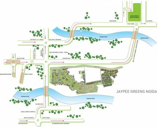 Jaypee Pavilion Heights Location Plan