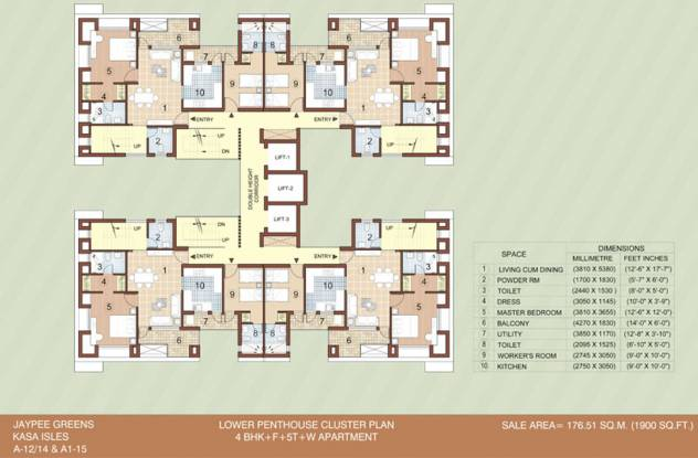 Jaypee Kasa Isles Cluster Plan