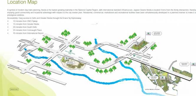 Jaypee The Pavilion Court Location Plan