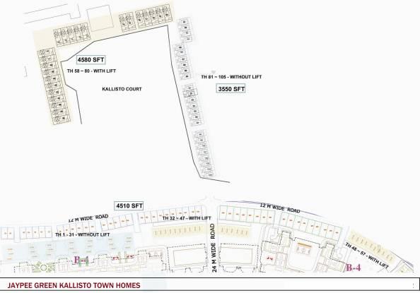Jaypee Kallisto Townhomes Layout Plan