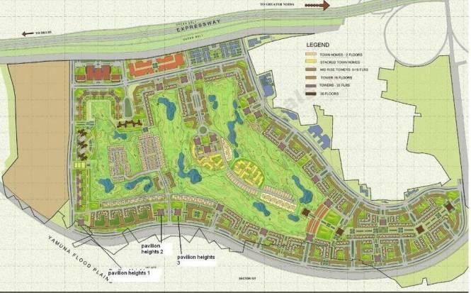 Jaypee Kallisto Townhomes Site Plan