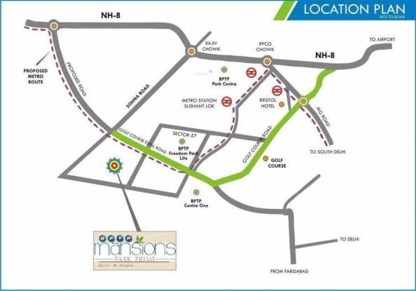 BPTP Mansions Park Prime Location Plan