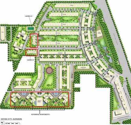Vatika The Sovereign Apartment Site Plan