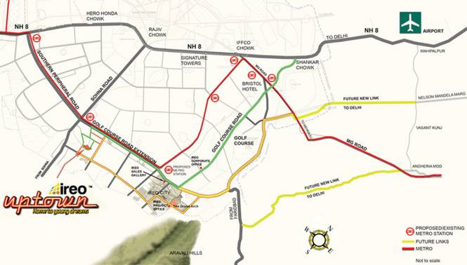 Ireo Uptown Location Plan