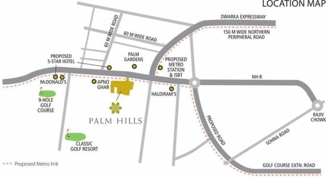 Emaar Palm Hills Location Plan