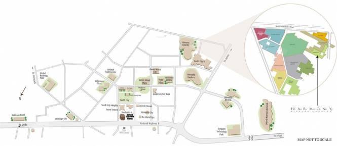 Unitech Harmony Location Plan