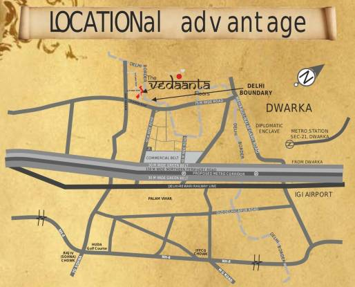 Raheja Vedaanta Floors Location Plan