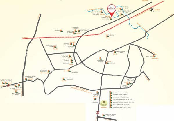 Raheja Atharva Location Plan