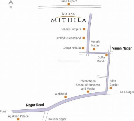 Rohan Mithila Location Plan