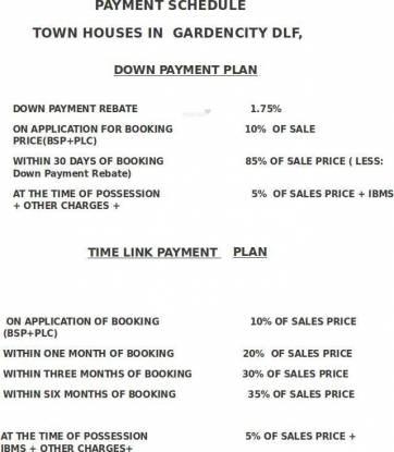 DLF Garden City Payment Plan