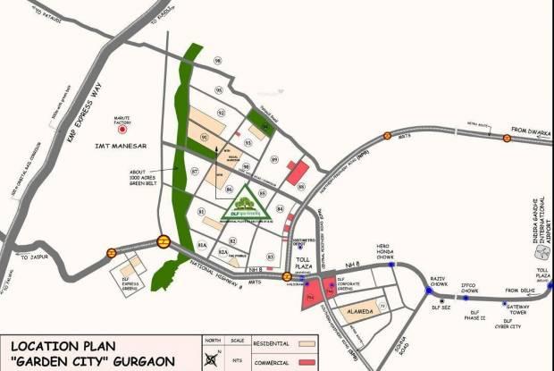 DLF Garden City Plots Location Plan