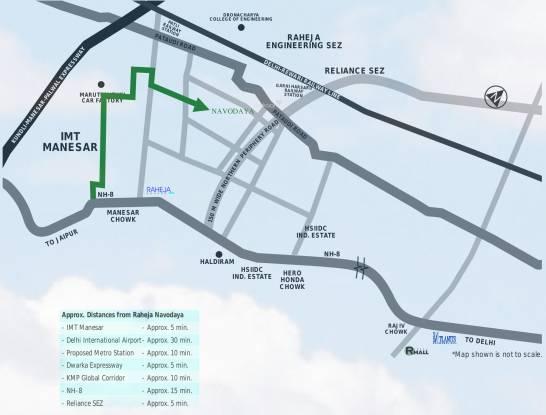 Raheja Navodaya Location Plan