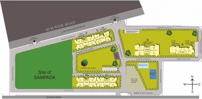 Raheja Navodaya Site Plan