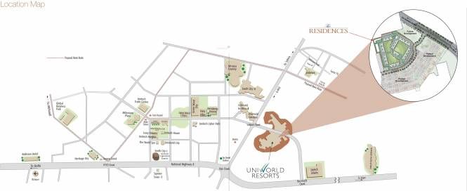 Unitech The Residences Location Plan