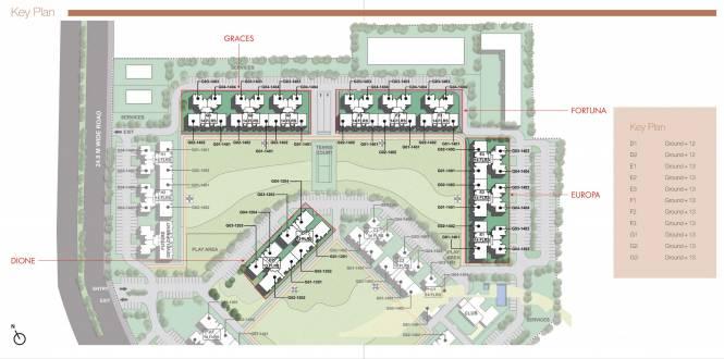 Unitech The Residences Site Plan