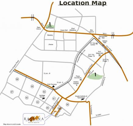 TATA Raisina Residency Location Plan