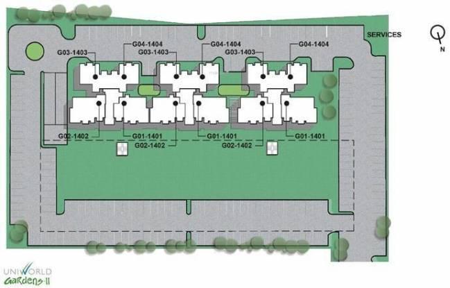 Unitech Uniworld Gardens 2 Layout Plan