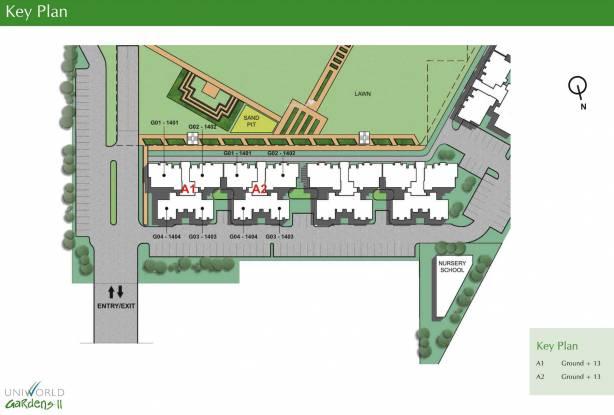 Unitech Uniworld Gardens 2 Site Plan