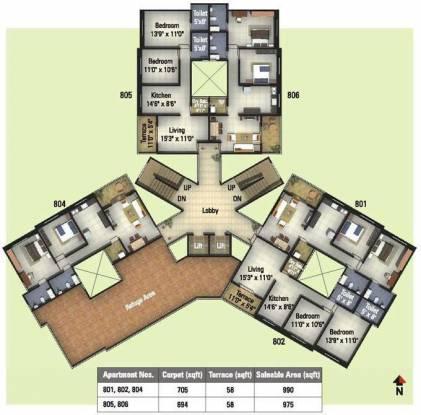 Kumar Palmcrest Cluster Plan