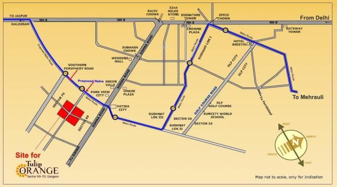 Tulip Orange Location Plan