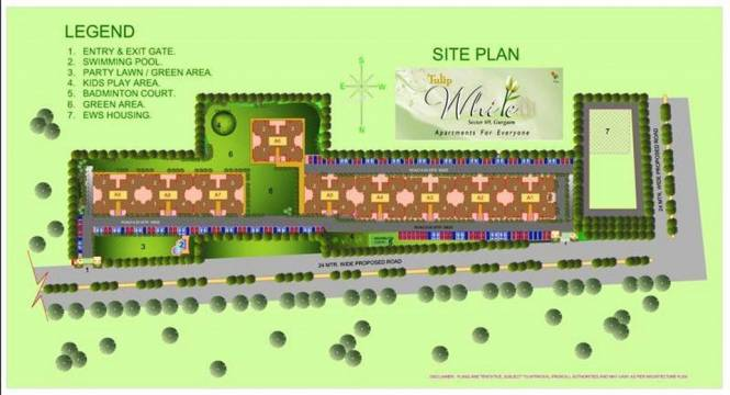 Tulip White Site Plan