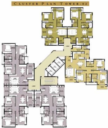 Prestige Parkview Cluster Plan