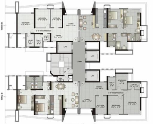 Kalpataru Gardens II Cluster Plan