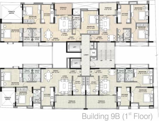 Kalpataru Estate Cluster Plan