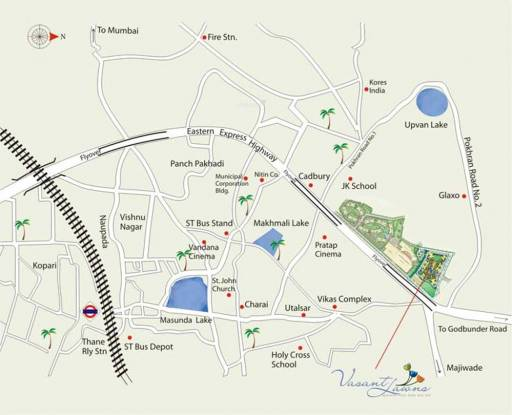 Sheth Vasant Lawns Location Plan