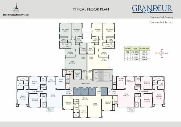 Sheth Grandeur Cluster Plan