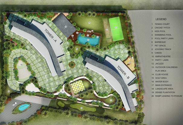 DB Orchid Heights Layout Plan