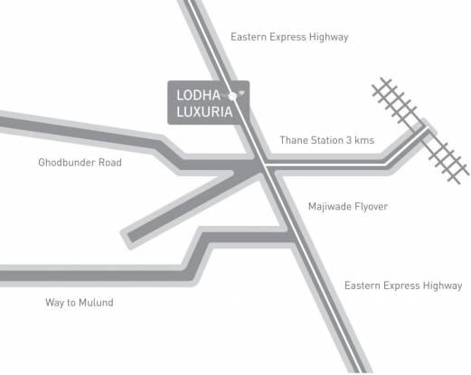 Lodha Luxuria Location Plan
