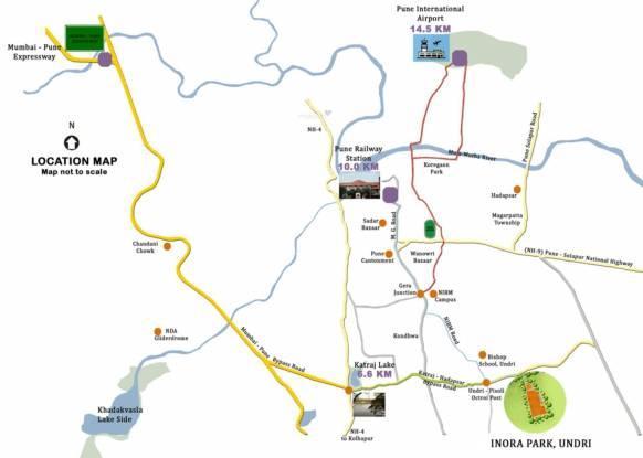 TATA Inora Park Location Plan