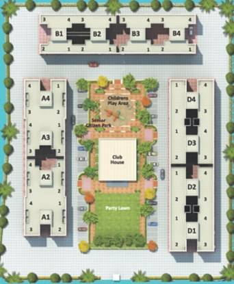 Kolte Patil Umang Homes Phase 1 Layout Plan