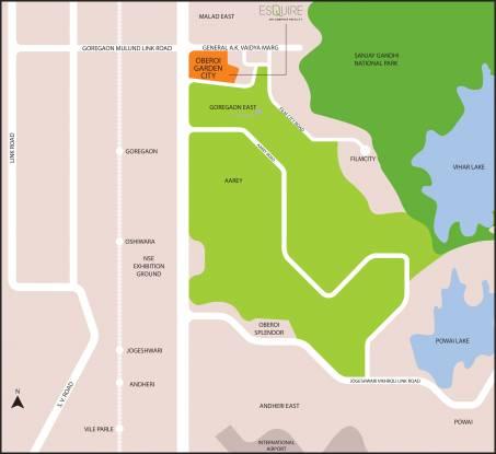 Oberoi Esquire Location Plan