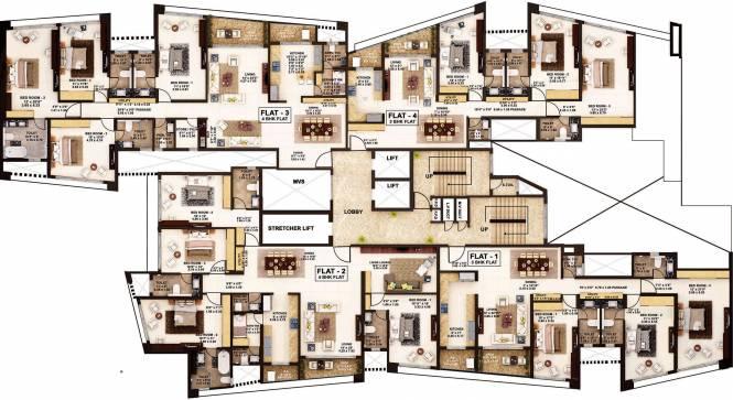 Rustomjee Oriana Cluster Plan