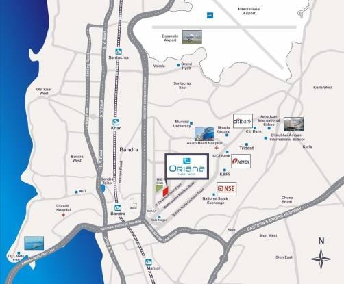 Rustomjee Oriana Location Plan