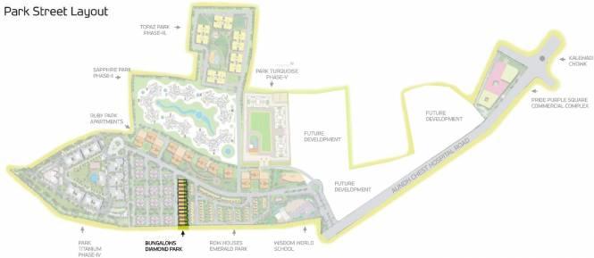 Pride Purple Diamond Park Layout Plan