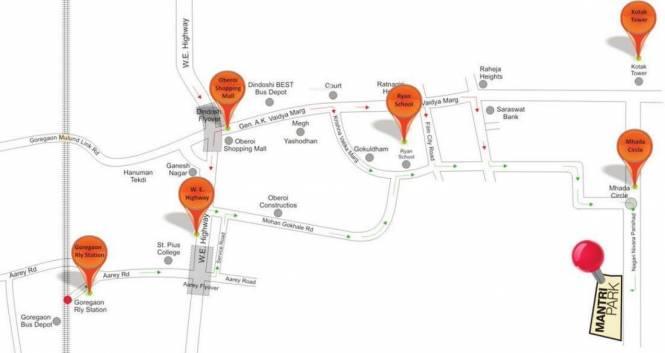 Mantri Park Location Plan